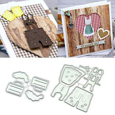 Overalls DIY Metal Cutting Dies Stencil Scrapbooking Album PaperCard Craft Decor