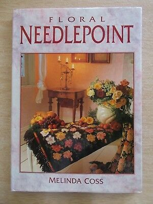 Floral Needlepoint~Melinda Coss~20 Projects~Patterns~112pp HBWC