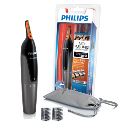 Philips Series 3000 Mens Nose, Ear & Eyebrow Hair Trimmer Kit - Nt3160/10