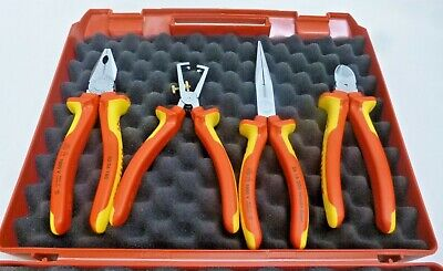 New! Knipex 4Pc Insulated Plier Set