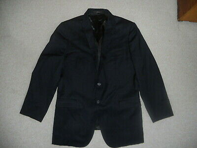 Mens Blazer-JOSEPH ABBOUD COLLECTION-NORDSTROM-navy 100% wool lined 2 button-44L