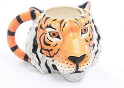 Novelty Carnival Tiger 3D Head Coffee Mug Cup New And Gift Boxed Sil