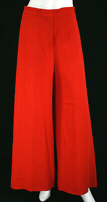 STELLA McCARTNEY True Red Crepe High Waisted Palazzo Pants 38