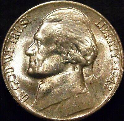 1942-P Jefferson Nickel Choice/Gem BU Uncirculated