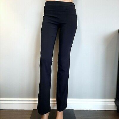 Seduction Dress Pants Womens Size Small Black Pull On Bootcut Banded Stretch