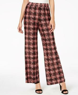 Ny Collection Women's Petite Printed Soft Pants Black Size PM
