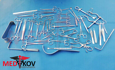 Basic Pediatric Surgery Instruments Set of 40 pieces With Sterilization Box