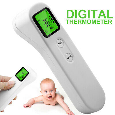 No-contact Touch IR Infrared LCD Digital Fever Forehead Thermometer Adult Baby