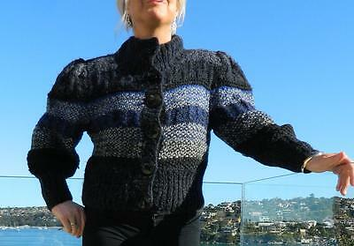 VINTAGE Gil Aimbez for Anthea Crawford 1980s Original Wool Knit Retro Sweater