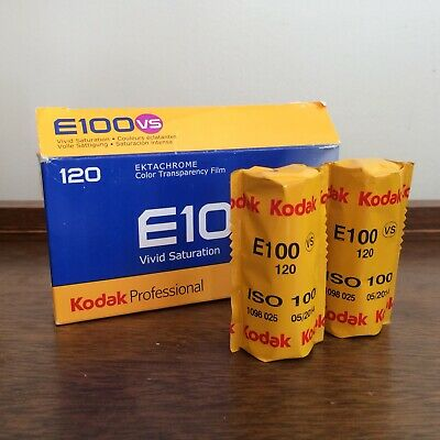 Kodak Ektachrome E100vs - 2 Rolls Of Color slide Film 120 ISO 100 Expired 2014