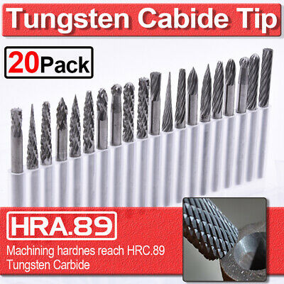 20pcs Tungsten Carbide Rotary Tool Point Burr Shank Die Grinder Set 3*3mm New