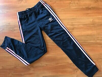 Girls BLUE Pink ADIDAS ORIGINALS TRACKSUIT Bottoms (age12-13) *NICE COND*