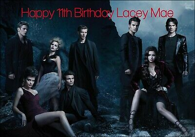 /'VAMPIRE DIARIES/' 1 Personalised Birthday Card! ANY NAME,AGE LARGE A5 SIZE!!