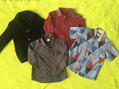 Bundle Boys Clothes Age 5-6 Years Knitted Cardigan Polo Shirts Tops M&S