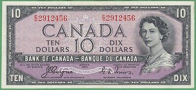1954 Bank of Canada $10 Devil's Face Note - Coyne/Towers - E/D2912456 - EF