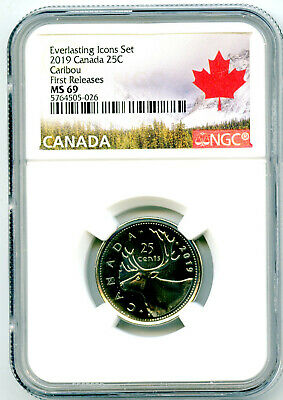 2019 Canada Everlasting Icons 25 Cent Quarter Ngc Ms69 First Releases Top Pop=10