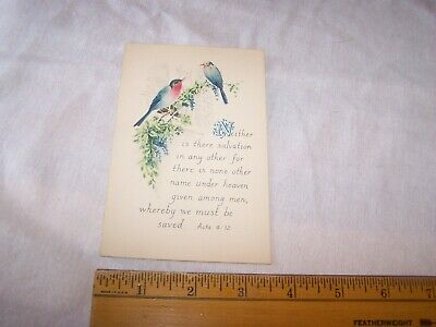 Antique Vintage BIBLE VERSE Postcard ACTS 4 : 12