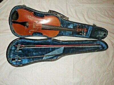 Very Old Antique Violin and Bows in 1893 M & W CASE