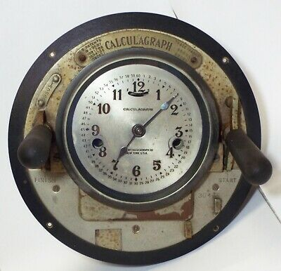 Old Antique CALCULAGRAPH Pool Hall Timer Telephone DURATION TIMER CLOCK