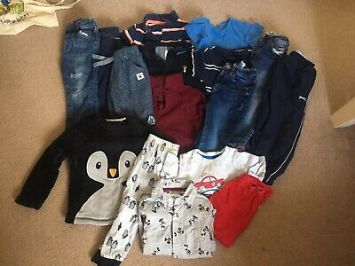 Boys Bundle Age 2-3 Years Joggers Jeans Tshirt Pj's Mostly Next