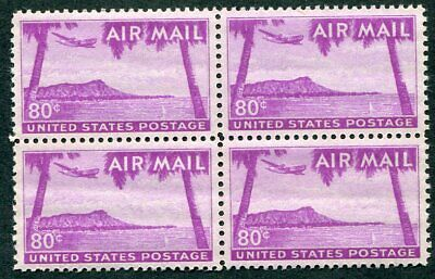 US  C46  Beautiful  Mint  NEVER  Hinged  AIR  MAIL  BLOCK  UPTOWN