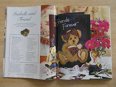 Folk Art & Decorative Painting Vol 8 #9~Clock~Teddy~Flowers~Apples~Winged Stag..