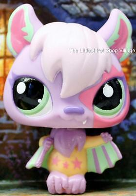 Littlest Pet Shop ❃ Jet Nightly Vampire Bat #1695 ❃ New ❃ Lpso Purple Dracula