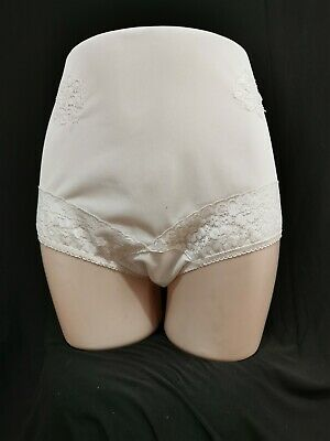 Vintage Panties Knickers Sheer White Nylon Lace Size 8
