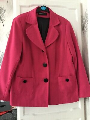 Lovely Ladies Jacket From Wardrobe Size 16 Colour Cerise Preowned