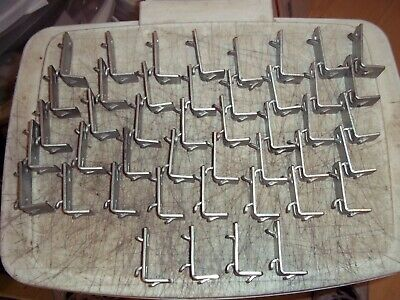 44 Pc Lot Adapto Industrial Steel Shelf Supports Rack Clips Warehouse Shelving