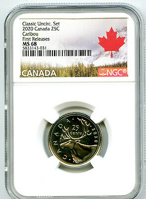 2020 Canada Classic 25 Cent Quarter Ngc Ms68 First Releases