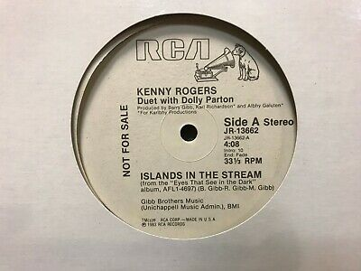"KENNY ROGERS DOLLY PARTON Islands in the Stream RADIO PROMO WLP RCA 1983 12"" NM!"