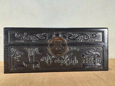 "16"" Chinese antiques Rosewood Hand-carved Landscape pattern Jewelry Box"