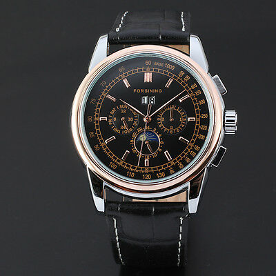 Full Automatin High End Powerful Mens Automatic Mechanical 6 Hands Date Watch