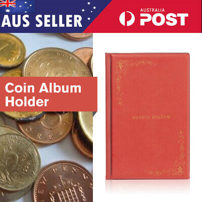 2x150 Australian Coin Album Holder Storage large slots Book Suit 50 cent Red