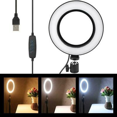 10-level Ring Light Studio Photo Video Dimmable Lamp Tripod Stand Selfie Camera
