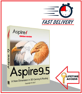 VECTRIC ASPIRE 9.514 LATEST 🔥 FAST DELIVERY | EASY INSTALLATION 🔥Win 64 Bit 🔥