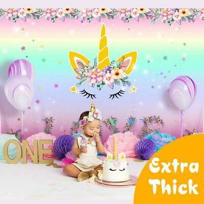 Unicorn Party Backdrop Kids  Birthday Photo Props Unicorn Curtains Wall Decor
