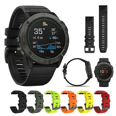22/26MM Silicone Watch Band Strap Replacement For Garmin Fenix 6X/6 Pro 3HR/5/5X