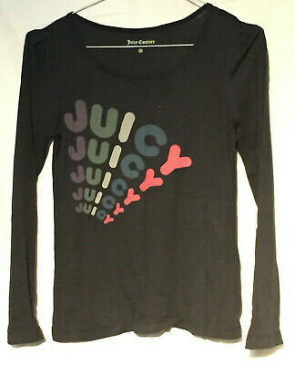 USA* Original JUICY COUTURE * Langarm Shirt * Schwarz * Gr. 10 Jahre *wNEU
