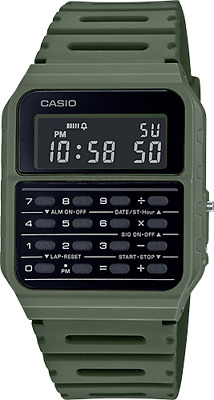 Casio CA53WF-3B, 8-Digit Calculator Watch, Resin Band, Day/Date, Alarm, Chrono