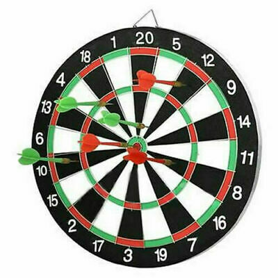 Dart Board Double Sided Dartboard Family Kids Childrens Game with Darts