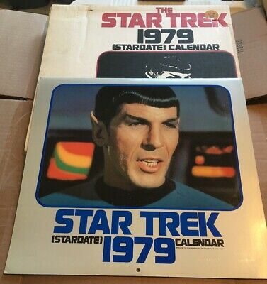 Star Trek Stardate 1979 Calendar with original Mailer Box Based on the TV Series