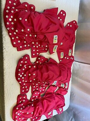 10 Yoyoo Pink cloth diaper Covers With Liners lot OS