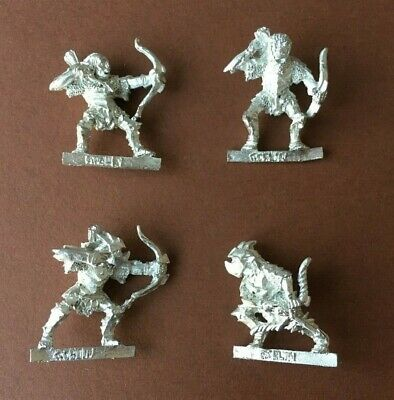 Lord of the Rings LOTR GW Metal Moria Armoured Goblin Bowman x4