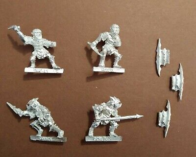Lord of the Rings LOTR GW Metal Moria Armoured Goblin 4x