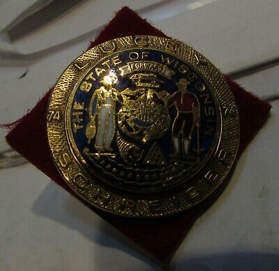 1974 State of Wisconsin Lucey Schreiber Governor Pin