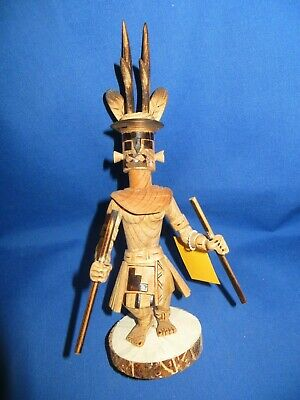 Navajo Solid Wood Hand Carved Antelope Kachina by Robert Platero Dine' 12 inches