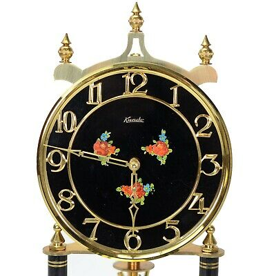 Kundo 400 day Anniversary Clock With Floral Black Dial Made in Germany Serviced