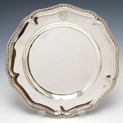 Queen Anne Silver Dinner Plate London c.1710